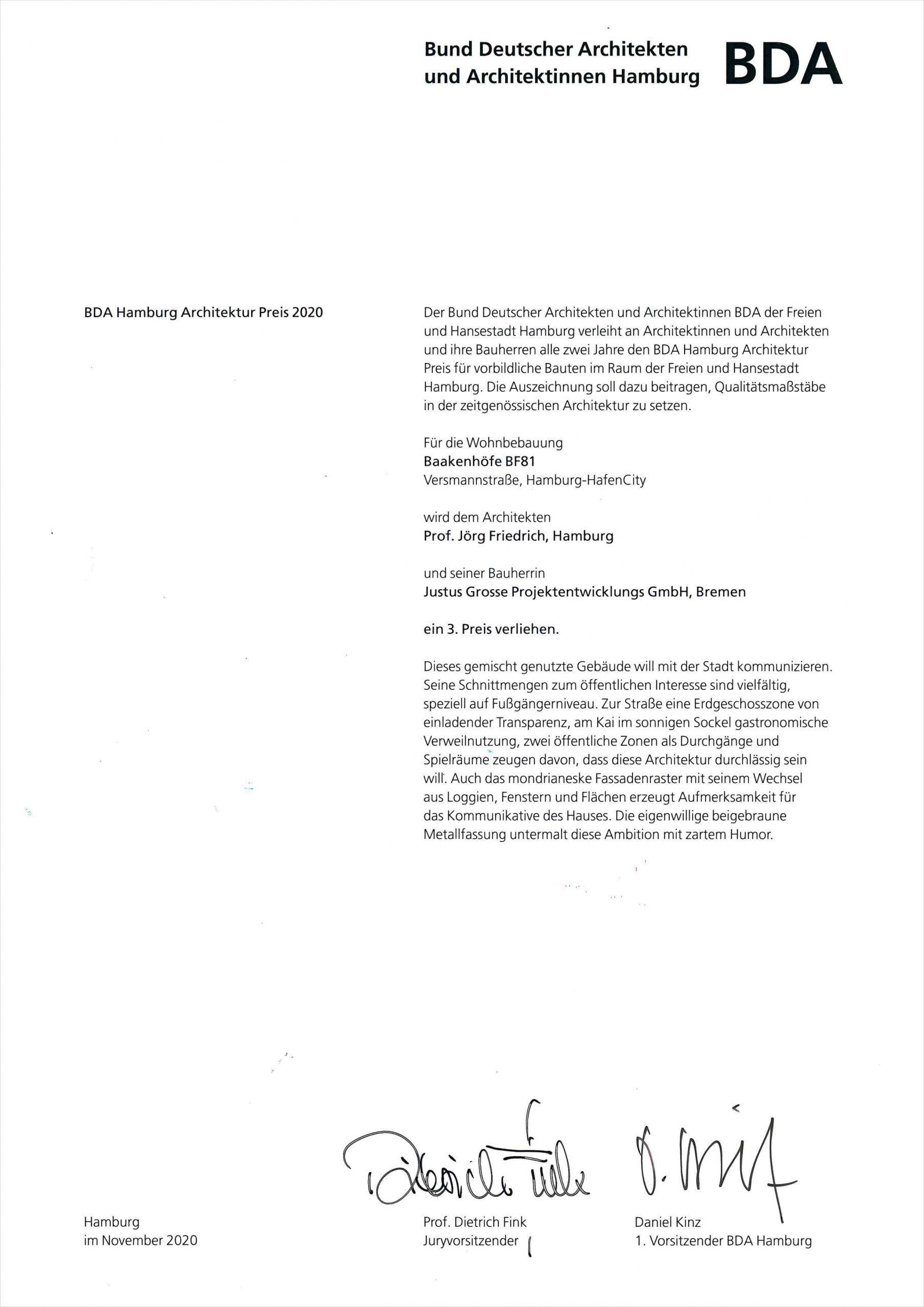 BDA Urkunde 2020 BaakenHafen pfp